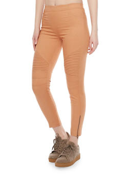 Zip Moto Twill Jeggings - 1074068199855