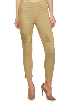 Ankle Zipper Twill Moto Pants - 1074068199855