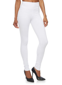 High Waisted Ponte Skinny Pants - 1074068199869