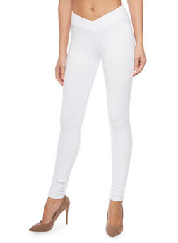 Envelope Waist Jeggings - WHITE - 1074068199947