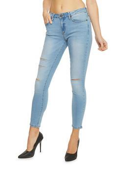Slash Rip Skinny Jeans - 1074069390261