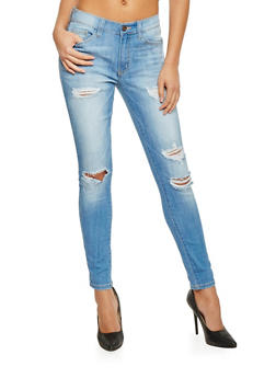 Ripped 5 Pocket Skinny Jeans - 1074069390300