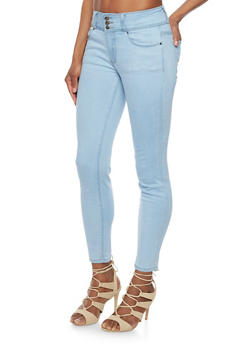 3 Button Classic Cropped Skinny Jeans - 1074069390314