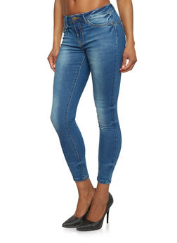 Cropped Cloud Wash Skinny Jeans - 1074069395961