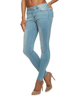 Basic Medium Wash Skinny Jeans - 1074069398184