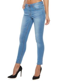 Five Pocket Skinny Jeans - LIGHT WASH - 1074069398566