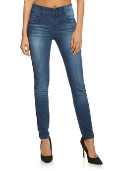 Highway 3 Button Closure Skinny Jeans - 1074071310916