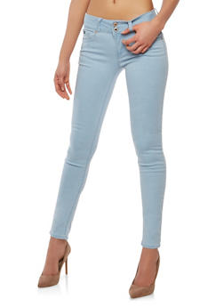 WAX 2 Button Basic Skinny Jeans - 1074071610048