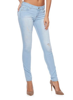 WAX Distressed Skinny Jeans - 1074071610055