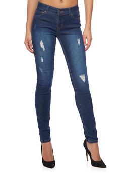 WAX Distressed Skinny Jeans - 1074071610055
