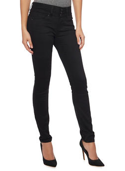 WAX 3 Button Push Up Skinny Jeans - 1074071610057