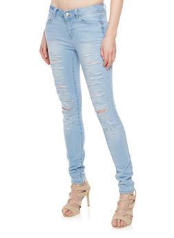 WAX Destroyed Denim Skinny Jeans - 1074071610071