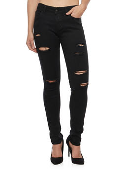 WAX Distressed Skinny Jeans - 1074071610092