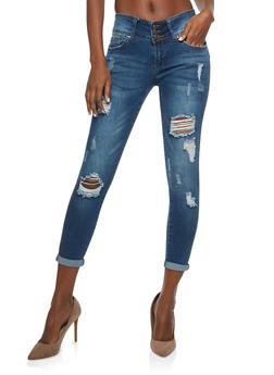 WAX Push Up Distressed Skinny Jeans - 1074071610117