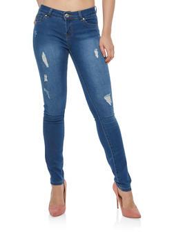 WAX Distressed Skinny Jeans - 1074071610905