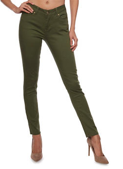 WAX Skinny Jeans in Solid - 1074071610931