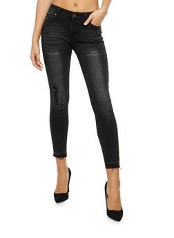 WAX Raw Hem Skinny Jeans - 1074071611949