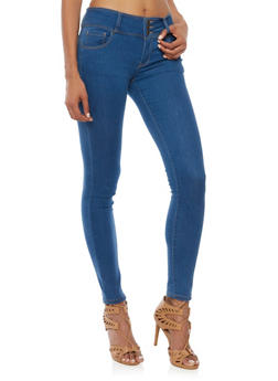 Wax High Waisted Skinny Jeans - 1074071613401