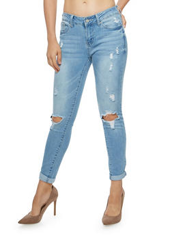 WAX Ripped Skinny Jeans - 1074071619018