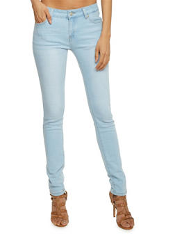 WAX Solid Skinny Jeans - 1074071619037