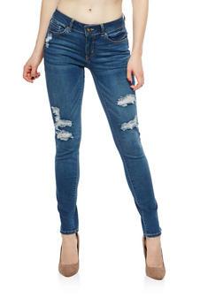 WAX Distressed Ripped Skinny Jeans - 1074071619046