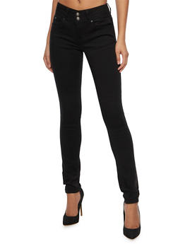 WAX Two Button Skinny Jeans - 1074071619048
