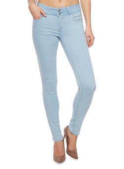 WAX High Waisted Stretch Skinny Jeans - 1074071619048