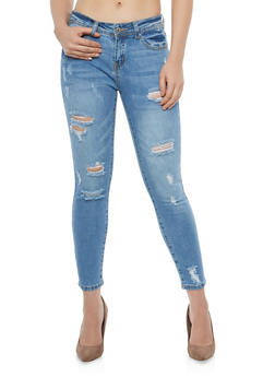 WAX Distressed Skinny Jeans - 1074071619113
