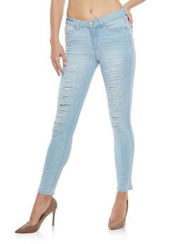 WAX Destruction Black Skinny Jeans - 1074071619771