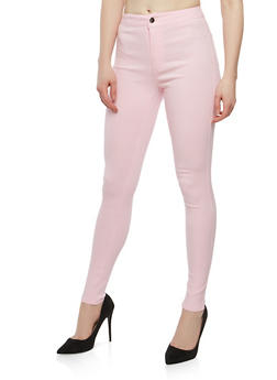 High Waisted Color Skinny Jeans - 1074072290411