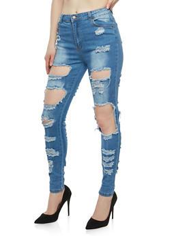 Destroyed Skinny Jeans - 1074072290428