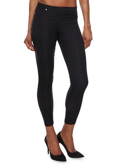 Solid Jeggings with Two Pockets - 1074072296111