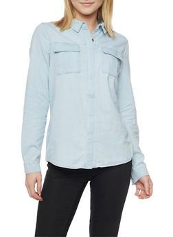Denim Button Up Shirt - 1075051068678