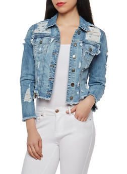 Cello Destroyed Denim Jacket - 1075063151045