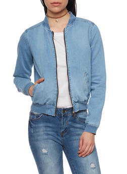 Highway Jeans Denim Bomber Jacket - MEDIUM WASH - 1075071310856
