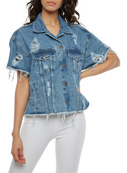 Highway Short Sleeve Denim Jacket - 1075071317055