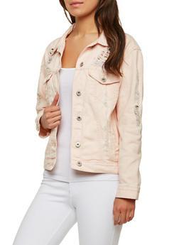 Highway Jeans Destroyed Denim Jacket - 1075071317969