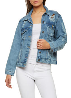 Highway Destroyed Denim Jacket - 1075071317969