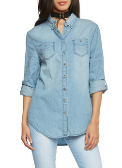 Highway Jeans Button Up Chambray Shirt - 1075071318265