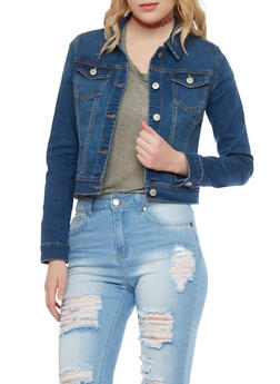 WAX Long Sleeve Denim Jacket - 1075071611009