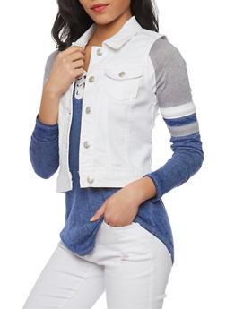 WAX Denim Vest - WHITE - 1075071619011