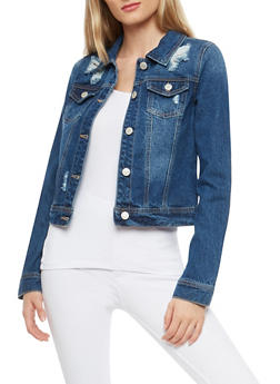 WAX Destroyed Denim Jacket - 1075071619168