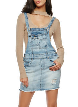 Denim Mini Dress - 1076015990026
