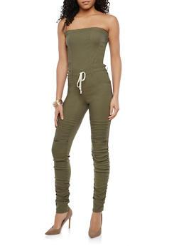 Strapless Ruched Leg Jumpsuit - 1078056575244