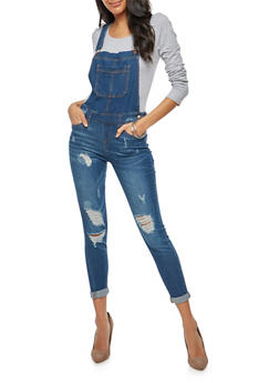 WAX Destroyed Whisker Wash Overalls - 1078071610092