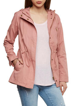 Hooded Twill Anorak Jacket - 1086054265001