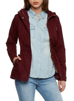 Hooded Twill Anorak Jacket - 1086054265001