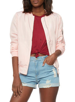 Satin Bomber Jacket - 1086054269420