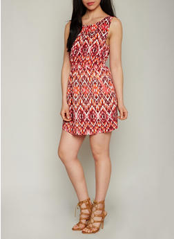 Sleeveless Mini Dress with Cinched Waist - 1090051065035
