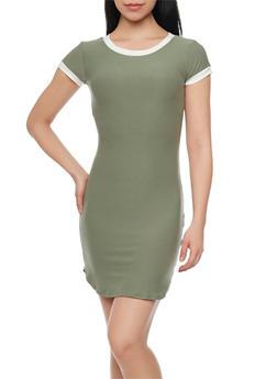 Ringer T Shirt Dress - 1094015050296